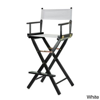 Black Frame 30-inch Director's Chair (Option: White)