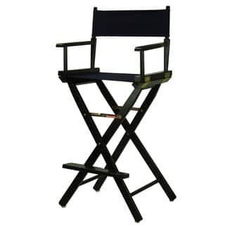 Black Frame 30-inch Director's Chair|https://ak1.ostkcdn.com/images/products/13224149/P19941770.jpg?impolicy=medium