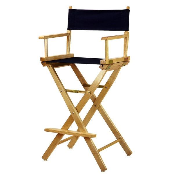 Shop Natural Frame 30 Inch Director S Chair Free