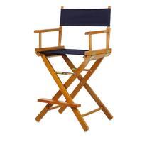Honey Oak Frame 24-inch Counter-height Director's Chair