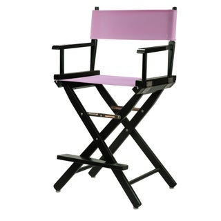 Black Frame 24-inch Director's Chair (Option: Pink)