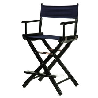 Black Wood and Canvas 24-inch Director's Chair
