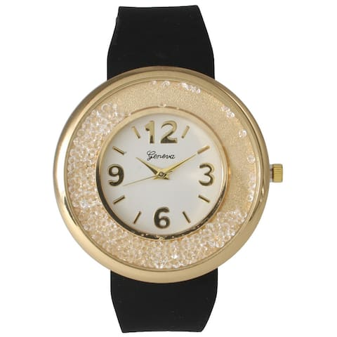 Crystal Face Silicone Band Watch