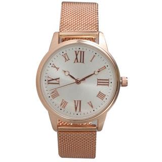 Olivia Pratt Women's Stainless Steel Mesh Bracelet Watch