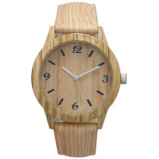 Olivia Pratt Women's Wood Print Watch