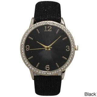 Olivia Pratt Sparkly Leather Strap Watch