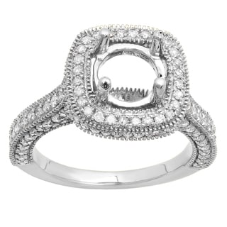 Elora 10k Gold 7/8ct TDW White Diamond Bridal Semi Mount Engagement Ring (I-J, I1-I2)