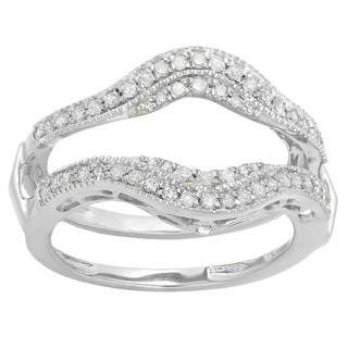 Elora 14k Gold 1/2ct TDW White Diamond Anniversary Wedding Band Double Enhancer Guard