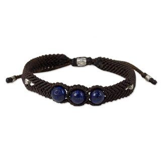 Handcrafted Silver 'The Blue Friend' Lapis Lazuli Bracelet (Thailand)