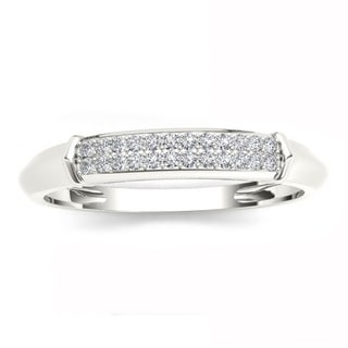 De Couer S925 Sterling Silver 1/8 ct TDW Diamond Men's Wedding Band (H-I, I2)