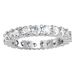 Elora 14k White Gold 2 1/2ct TDW Round Diamond Stackable Wedding Band (I-J, I1-I2)