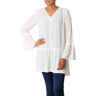 Handmade Viscose 'Sophisticated Charm' Tunic Top (India)|https://ak1.ostkcdn.com/images/products/13226683/P19943715.jpg?impolicy=medium