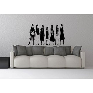 Anime decal, Anime stickers, Anime Vinyl, Beautiful girls Wall Art Sticker Decal size 48x76 Color Bl