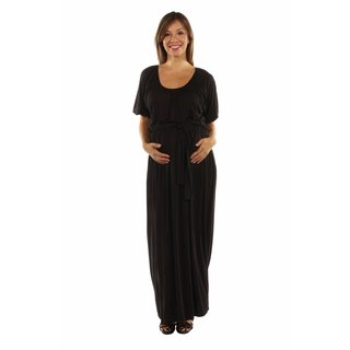 24/7 Comfort Apparel Women's Feminine, Sexy Maternity Maxi Dress for Day and Night