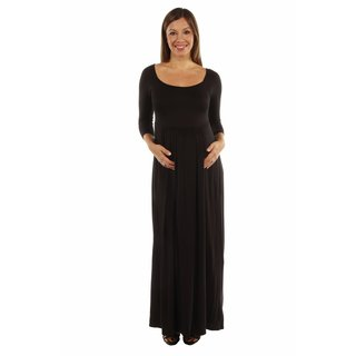 24/7 Comfort Apparel Women's On Trend, Figure Flattering Maternity Maxi Dress