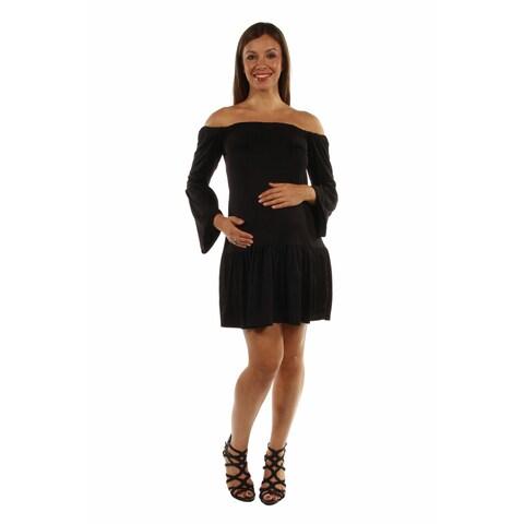 24/7 Comfort Apparel Women's Stunning Off Shoulder Romance Maternity Dress