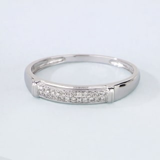 De Couer S925 Sterling Silver 1/8ct TDW Diamond Men's Band (H-I, I2)