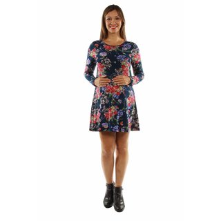 24/7 Comfort Apparel Women's Stunning Floral Midi Maternity Dress