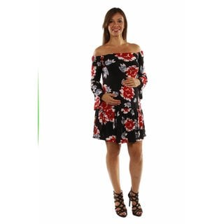 24/7 Comfort Apparel Women's Enticing Ruffles Maternity Dress
