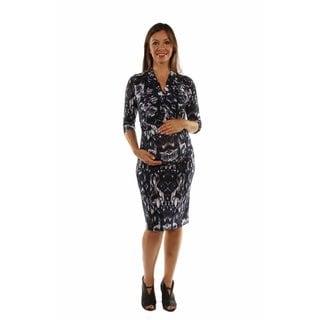24/7 Comfort Apparel Women's Fabulous Faux Wrap Maternity Dress (Option: 3x)