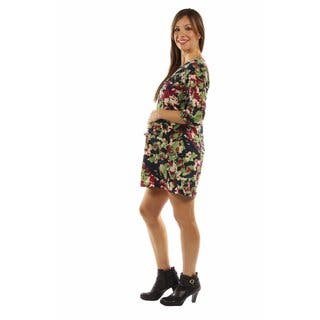 24/7 Comfort Apparel Women's Really Cute, Really Comfortable Floral Maternity Minidress|https://ak1.ostkcdn.com/images/products/13227107/P19944041.jpg?impolicy=medium