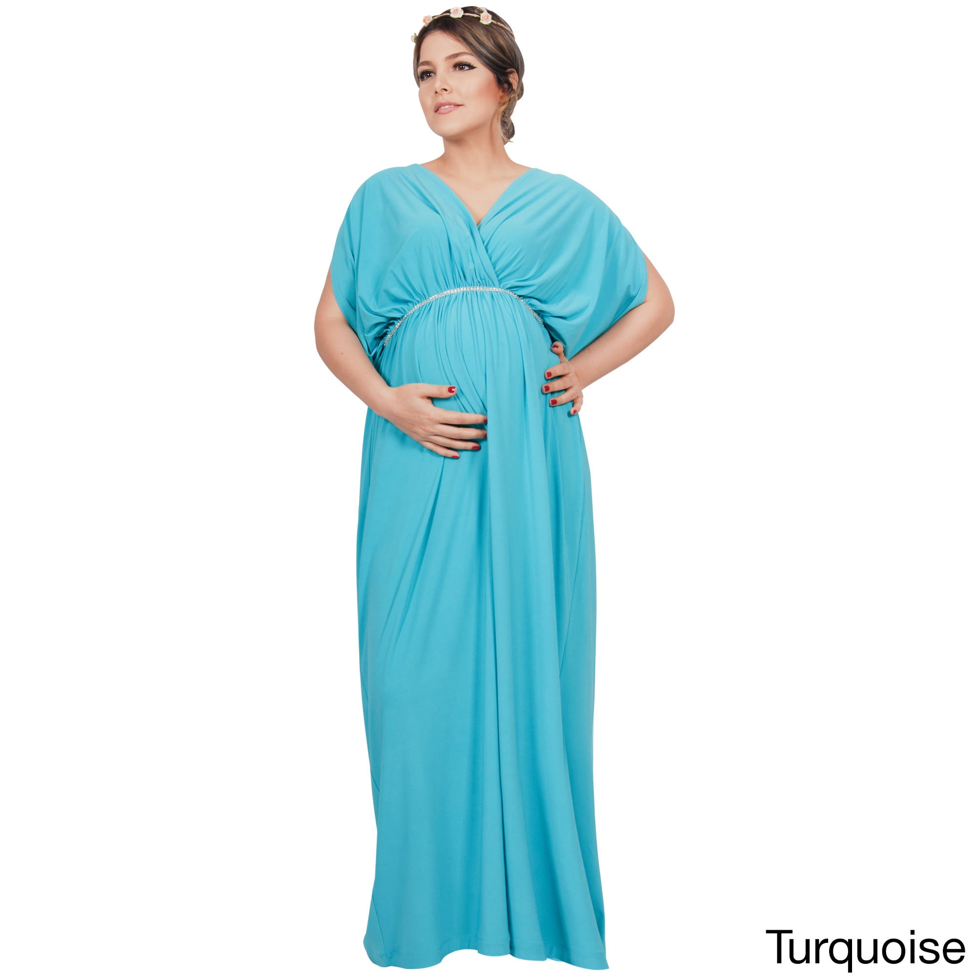 Koh Koh Womens Maternity Baby Shower Pregnancy Pregnant Gowns Maxi