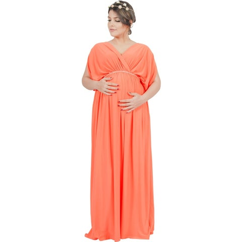 KOH KOH Womens Maternity Baby Shower Pregnancy Gowns Maxi Dresses