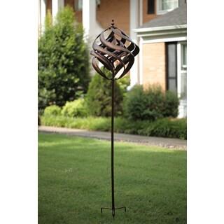 Brown Copper Spiral Wind Spinner