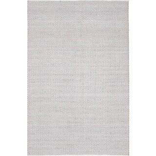 eCarpetGallery Honeycomb Grey/Ivory Wool Handwoven Area Rug (9' x 12')
