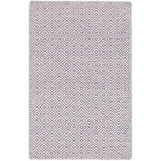 ecarpetgallery Hand-Woven Nevada Blue, Purple Wool Rug (2'0 x 3'1)