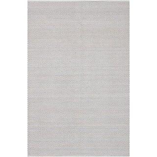 eCarpetGallery Honeycomb Grey/Ivory Wool Hand-woven Rug (6' x 9'1)