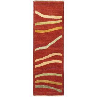 ecarpetgallery Hand-Knotted Finest Ziegler Chobi Brown Wool Rug (2'6 x 7'10)