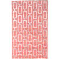 eCarpetGallery La Seda Brown/Grey Wool/Silk Hand-Knotted Rug (5' x 8')