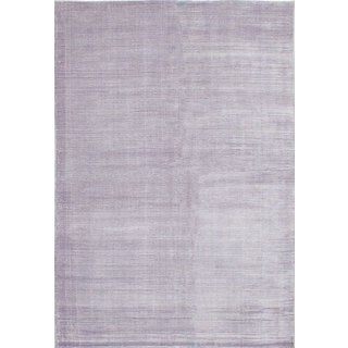 eCarpetGallery Art Silk Shimmer Purple Hand-knotted Rug (6'2 x 8'11)