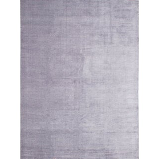 ecarpetgallery Blue Artifical Silk and Cotton Hand-Knotted Shimmer Rug (9'0 x 12'0)