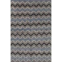 eCarpetGallery Mystique Grey Wool Hand-knotted Area Rug (6'1 x 9'3)