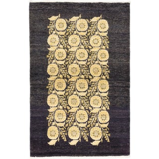 ecarpetgallery Peshawar Ziegler Black/Yellow Wool Hand-knotted Rug (4'0 x 6'0)