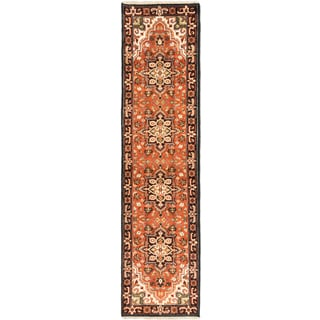 eCarpetGallery Hand-knotted Royal Heriz Brown Wool Rug (2'6 x 10')