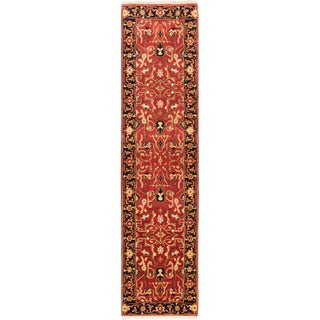 Hand-knotted Serapi Heritage Copper Wool Rug - 2'7 x 10'0