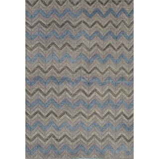 eCarpetGallery Mystique Ivory Wool Hand-Knotted Area Rug (5'11 x 8'11)