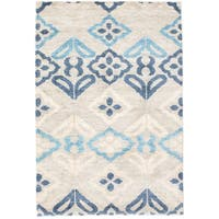 eCarpetGallery Sari Silk Grey Hand-knotted Area Rug (4'0 x 6'0)