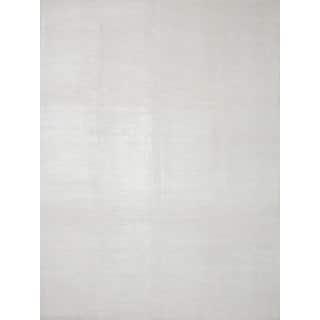 ecarpetgallery Shimmer Ivory Art Silk Hand-knotted Rug (9'0 x 12'0)
