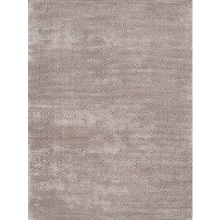 eCarpetGallery Reflections Grey Art Silk Blend Handmade Area Rug (8'0 x 11'0)