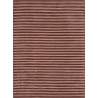 ecarpetgallery Reflections Brown Art Silk Handmade Rug