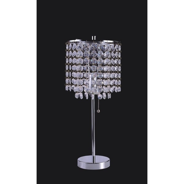 QMax 19-inch Crystal Inspired Table Lamp