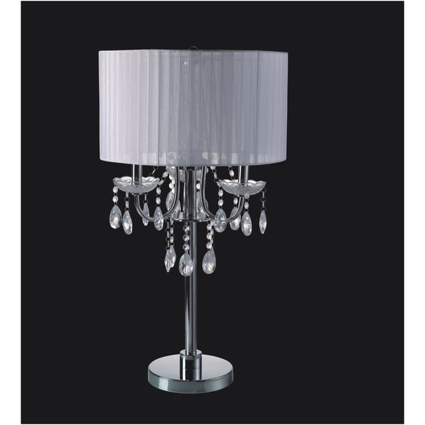 Shop Qmax Crystal Inspired Candelabra Style Chrome Base 29 Inch 3