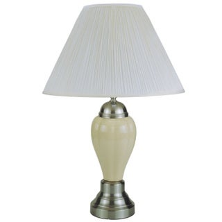 QMax Ivory Ceramic 27-inch Table Lamp