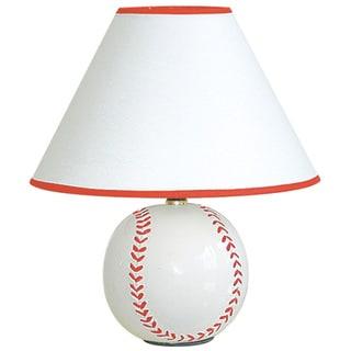 QMax 12-inch Ceramic Baseball Sports Table/Desk Lamp