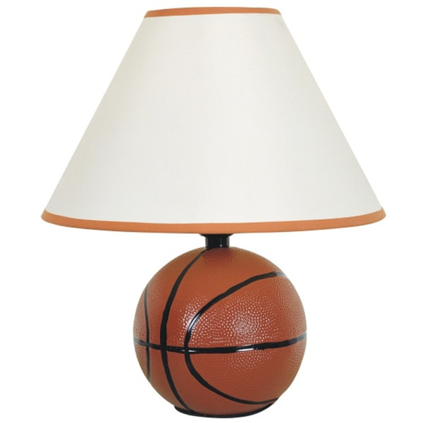 QMax Multicolored Ceramic 12 Inch Basketball Sports Table/Desk Lamp