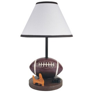QMax Brown Polyresin 15.75-inch High Football Table and Desk Lamp